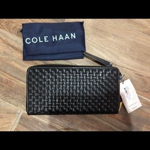 Brand New Cole Haan Woven Continental Wallet